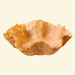 "Waffle bowl  - Large   Dia:  4.7/8 "" ( 125 mm)   Height:  1 3/8""  ( 35 mm)   ( 60 p/cs)"